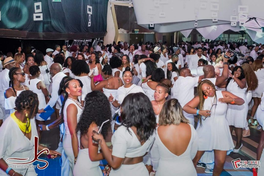 Tia Takes the All White Party!